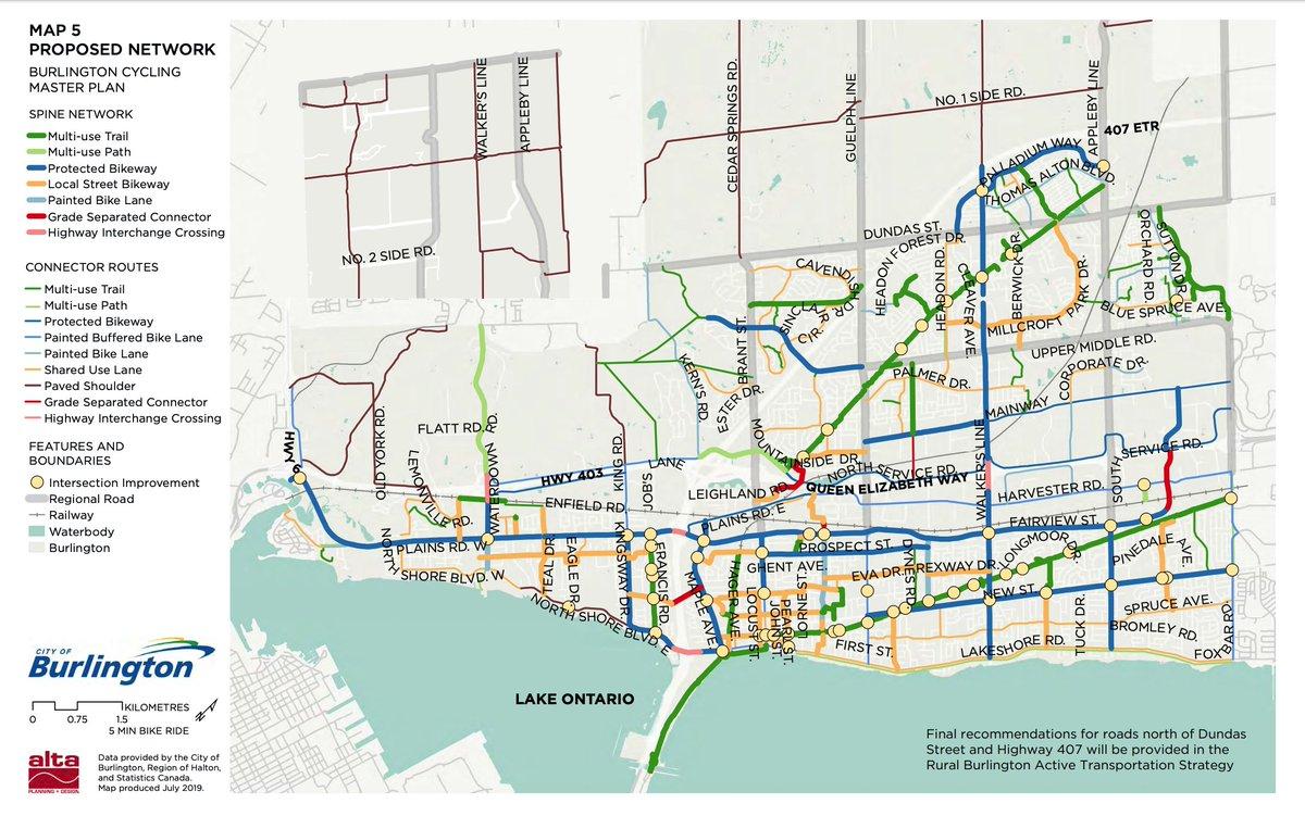 @MariannMeedWard @OakvilleMayor @bildgta Looking forward to #burlOn's proposed New St protected bike lane is connected to Oakville's Rebecca St. https://t.co/sSBHWXwLiu