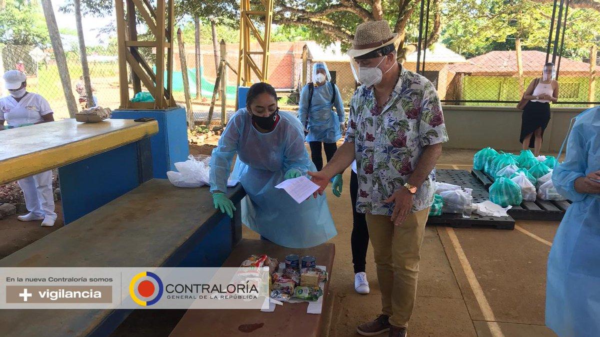 La @CGR_Colombia a través del equipo de la Gerencia Vaupés,  realizó una visita fiscal de seguimiento y verificación de la entrega de paquetes alimentarios bajo el Plan de Alimentación Escolar PAE, en la sede de la institución Educativa Departamental Inayá. https://t.co/VyLnOu3Efy