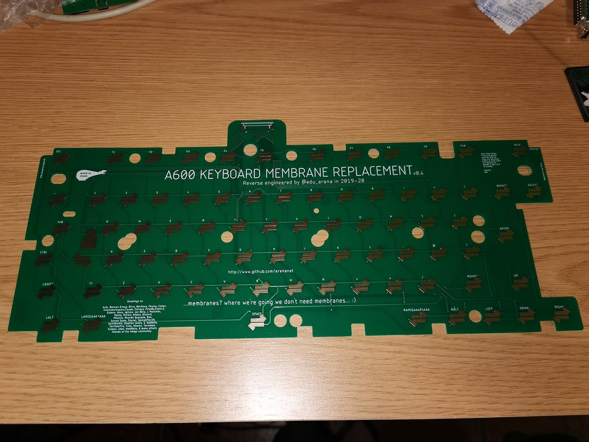 RT RetromaniacMag: RT @edu_arana: I've redesigned my #a600 membrane replacement. Now it's compatible with both versions. #amiga @10MARC1 @AmigaL0ve @aMiGaTrOnIcS @TheGuruMeditate @CommodoreSpain  Includes a little quote for eBay sellers, once i publish o… https://t.co/w3pdCs4zXl
