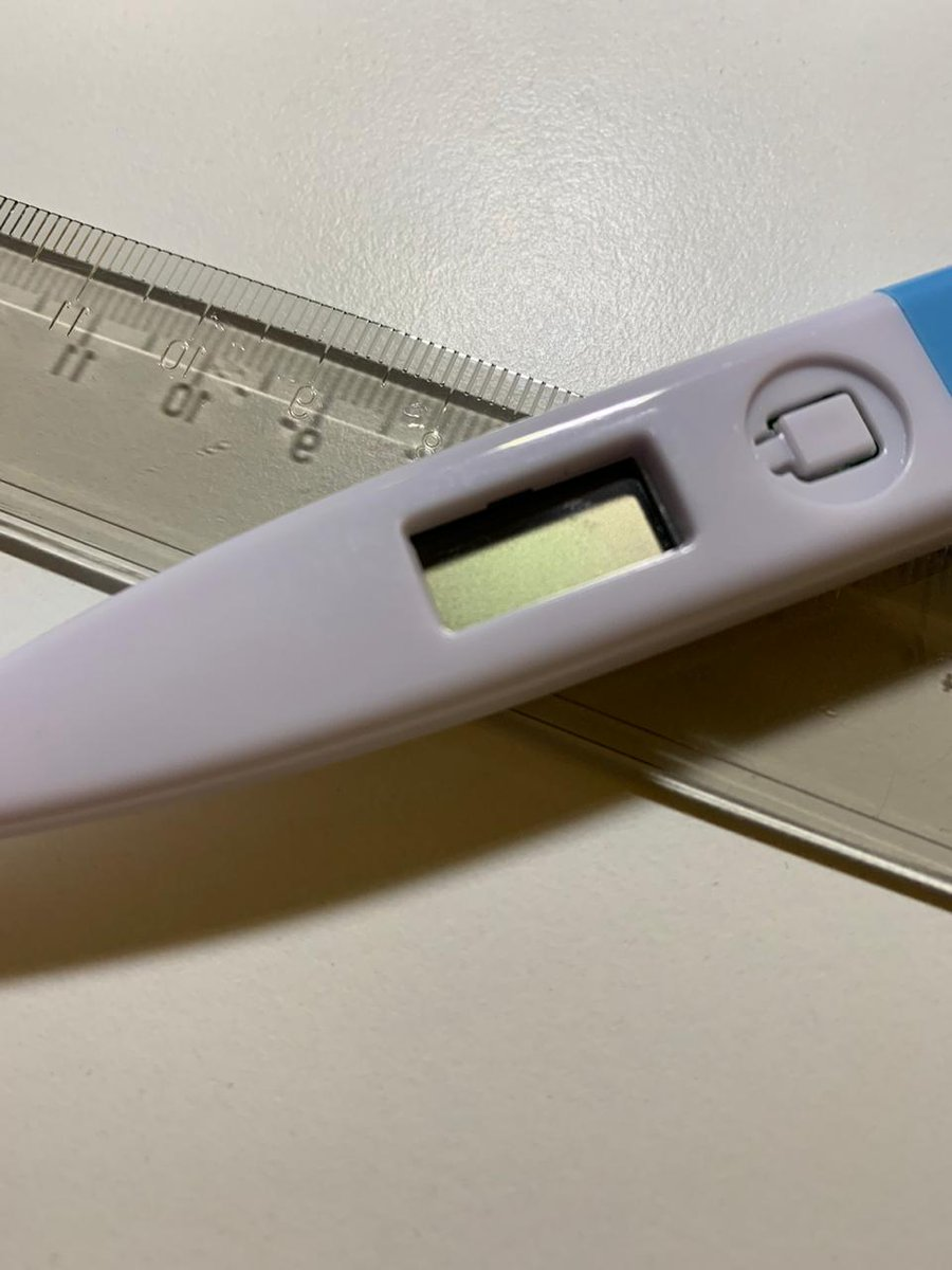 Hoy me dieron la primera dosis de la vacuna o del placebo. Tengo que volver para la segunda, dentro de 21 días. Me dieron un termómetro (tengo que tomarme la temperatura los próximos 7 días) y una regla (para medir el tamaño del pinchazo). https://t.co/nthoufs8wl