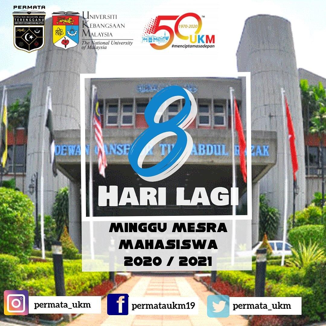 Minggu Mesra Mahasiswa Sesi 2020/2021  Tahniah kami ucapkan  kepada Mahasiswa/i baharu Sesi 2020/2021.  8 Hari lagi menjelang minggu mesra mahasiswa (MMM) Universiti Kebangsaan  Malaysia!   *Jumpa Anda Disana!*   ikuti kami di :  Twitter  https://t.co/lpq1ZUyACW https://t.co/KFyv7tWgsH