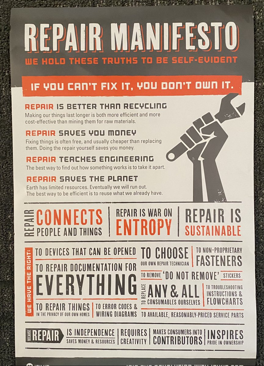 This poster came in a toolkit I have and it actually got me emotional. Raise a wrench to all those people who don't talk, they do. Those folks who don't blame, they engage. When stuff is broken they don't cry and run…they stay and fix. https://t.co/SgtUf3vVRY
