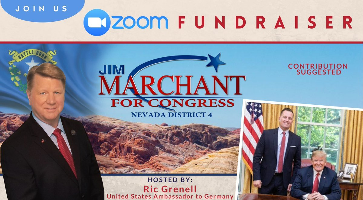UPDATE  Ambassador and American hero, Ric Grenell will host a Zoom fundraiser for me September 25th!  I'm honored to have Amb. Grenell's endorsement and support. I would love to see all my friends there.   Please click the NEW link below to register:  https://t.co/ccOxY4CtRk https://t.co/AuucEkdYPk