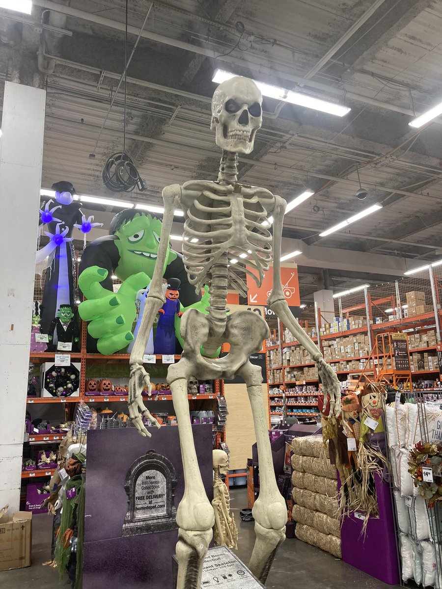 Will On Twitter Cannot Stop Thinking Abt The Giant Skeleton At Home Depot And The 12 Ft Void I Have In My Life Without Him