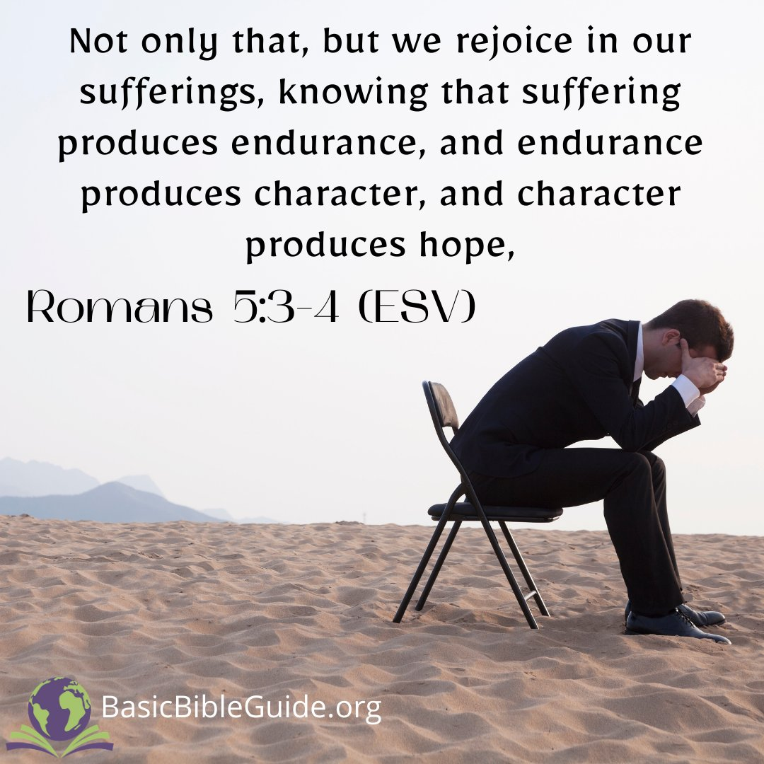 Did this #Bibleverse say that we rejoice in our sufferings?! & that suffering produces #hope?! That sounds insane! It's not when you have #God in your life & on your side! We know that this world is preparing us for what is to come. Dust off that #Bible: https://t.co/xj28HH31aY https://t.co/xyAEom1C8f
