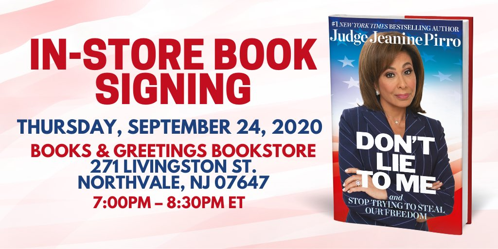 Join me this THURSDAY, September 24th at 7pm ET at Books & Greetings for an in-store signing of my new book 'Don't Lie to Me'. I can't wait to meet you, see you then! More Info: https://t.co/PjV0RRxnuW https://t.co/ZpOCaKbjmp