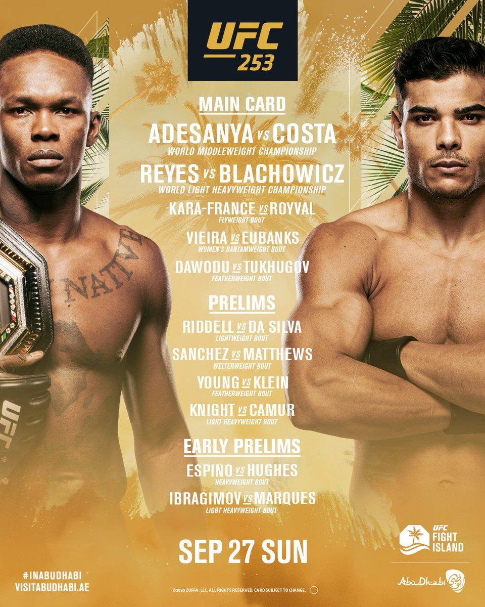 𝙏𝙃𝙍𝙀𝙀 𝘿𝘼𝙔𝙎 𝙏𝙊 𝙂𝙊! 🏆 #UFC253   #InAbuDhabi   @VisitAbuDhabi https://t.co/pcsTwd4tBX