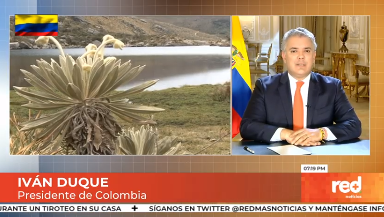 "#EnVivo   ""Colombia está liderando hoy la transformación energética en América Latina"": presidente @IvanDuque en entrevista con @GiovanniCelisS.  Canales 107 y 1007 HD de Claro o vía YouTube aquí ▶️https://t.co/tArqghZ5in https://t.co/l4dQRsMeR5"