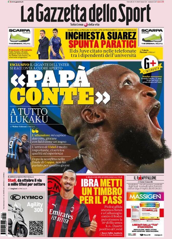 """#Lukaku: """"L'allenatore mi capisce davvero, giocare con lui è come un sogno""""! """"L'arrivo di #Vidal è molto importante, ci serviva qualità ed esperienza"""". """"Dopo la sconfitta nella finale di Coppa non ho parlato per quattro giorni""""! https://t.co/QOkwxP8fx3"""