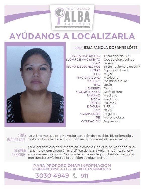 #TeBuscamos Irma Fabiola Dorantes López, 15 /11/17 #Zapopan # Jalisco https://t.co/LYRTtnd7jl