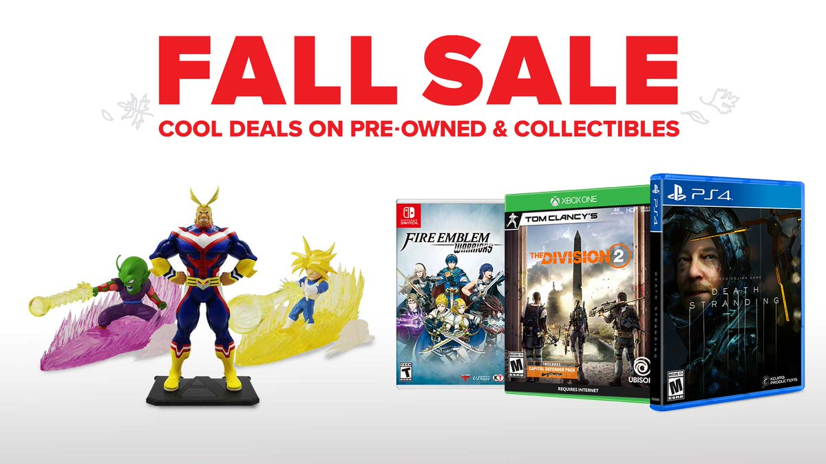 Save big on pre-owned games and collectibles during our Fall Sale! https://t.co/SRM5j98dQI https://t.co/S67bFtzuBf