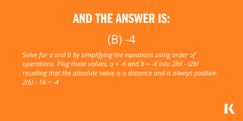 Here's the answer to your question of the day! How'd you do? Check out some more questions here: https://t.co/edH1UjVUtK.  #GREprep #GREpractice #GREquestions #KaplanGRE #gradschool https://t.co/HIp4FRMjqB
