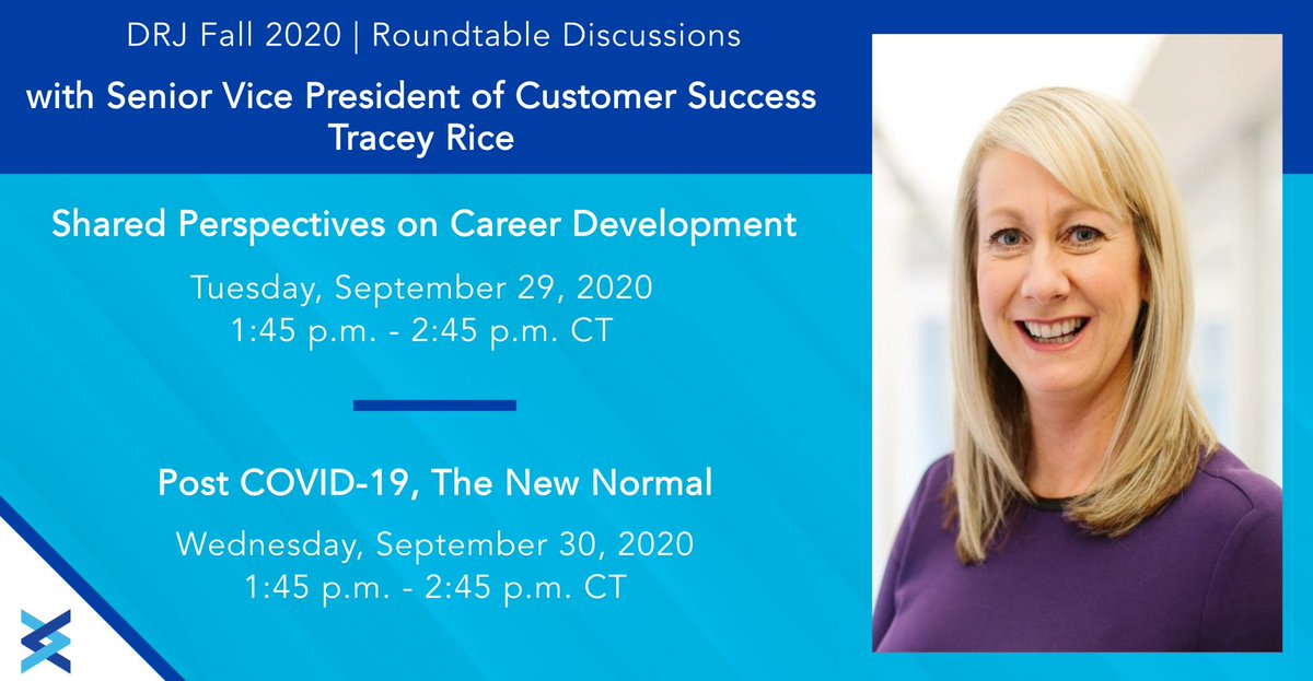 Join Fusion's Senior Vice President of Customer Success @TForbesRice at #DRJFall next Tuesday and Wednesday for two empowering roundtable discussions on career development and adapting to the new normal! Learn more: https://t.co/aqU0ngorVo #NewNormal https://t.co/MAt4VAFmnF