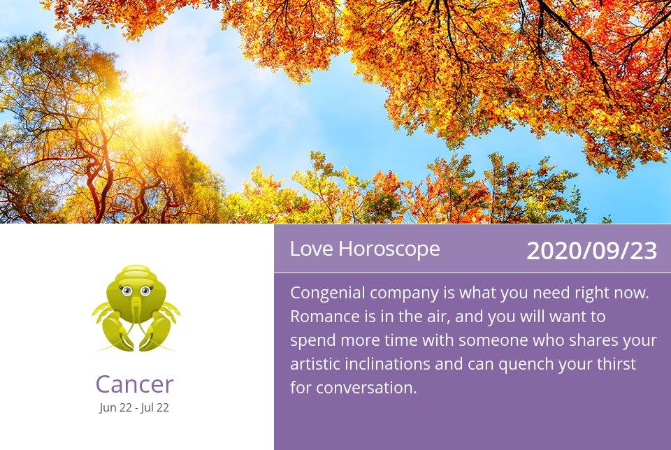 Love Horoscope for Sep 23, 2020 => Read the rest at: https://t.co/SEpBU3oCND How did we do? #Cancer #CancerLove #TeamCancer https://t.co/lWkd67UjGM