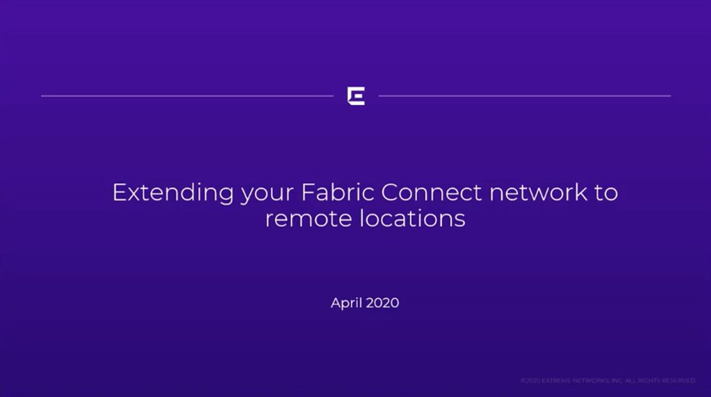 Did you know you can use Extreme Networks Fabric Connect to securely extend your enterprise's network to remote workers? Here's a tutorial: https://t.co/WrHGhTP2Xf  #cybersecurity #newnormal #remoteworking https://t.co/vxOD0jQSGb