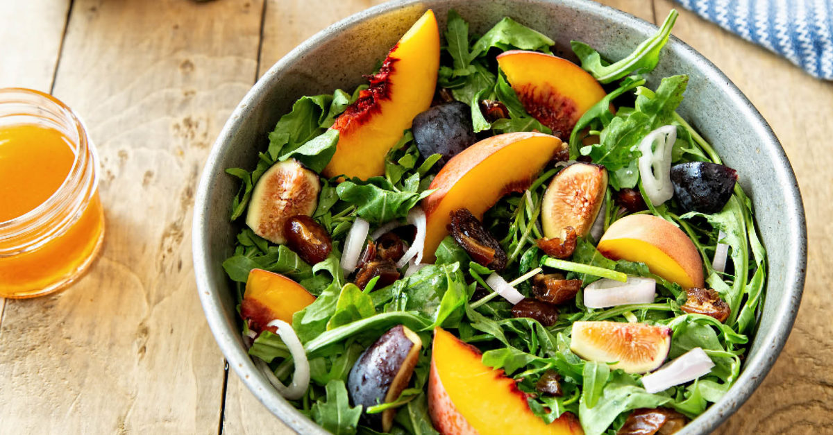"""There are juicy #peaches and luscious #figs tossed with bitter arugula and studded with sweet little pieces of date.""  https://t.co/3DJAQR8PFi https://t.co/NbLgImoTT9"
