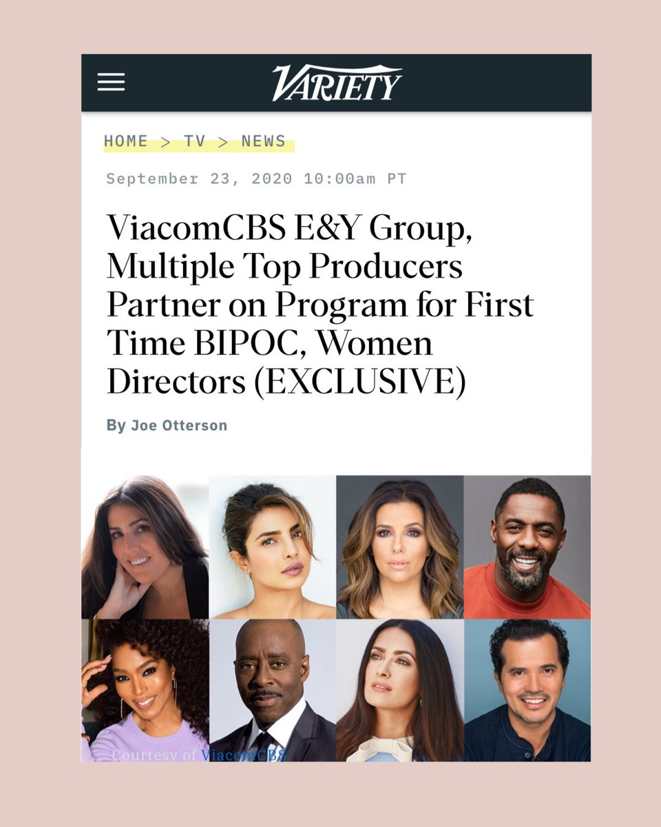Proud 🙏🏽 @PurplePebblePic  @ViacomCBS  @Variety https://t.co/bxrcUDo55a