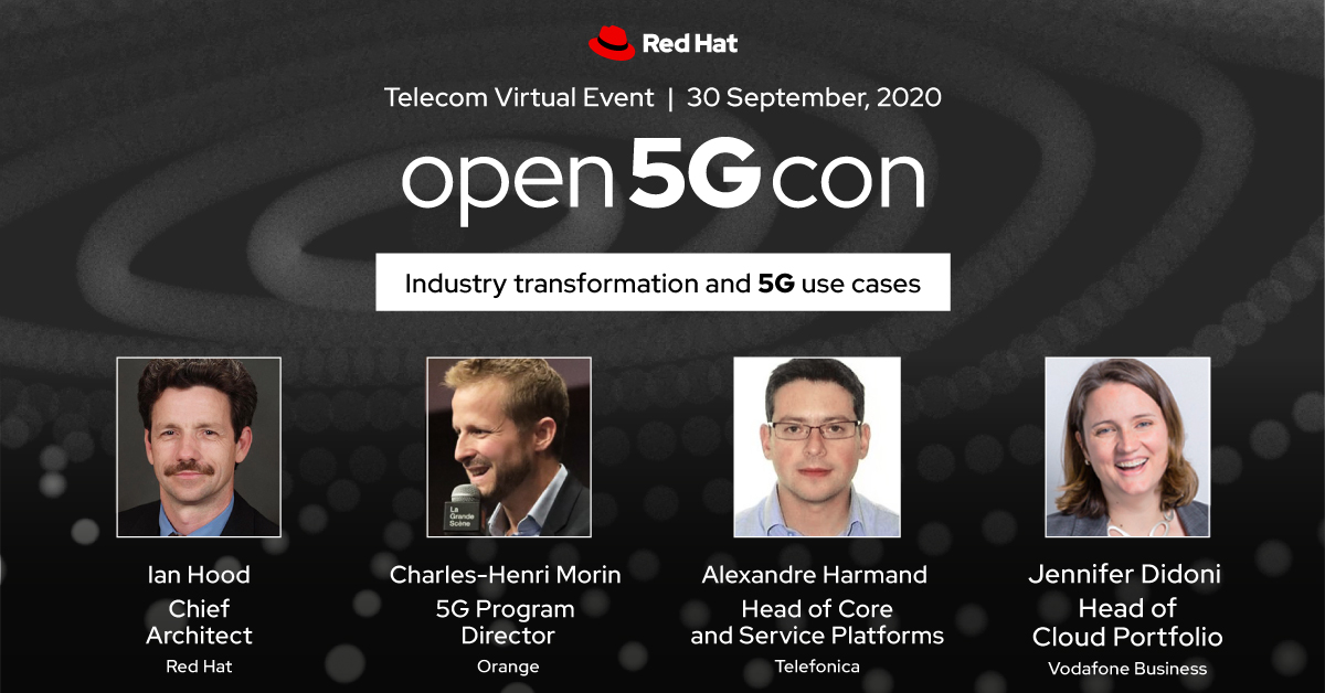 #5G and #edge computing offer more than greater speed. Join @RedHat, @orange, @TefOnIssues and @VodafoneBiz to discuss the opportunities and challenges for 5G in industries across public and private sectors. Register for #Open5GCon here ➡️   https://t.co/xVKRqKIAGW https://t.co/YlNn5HKldb