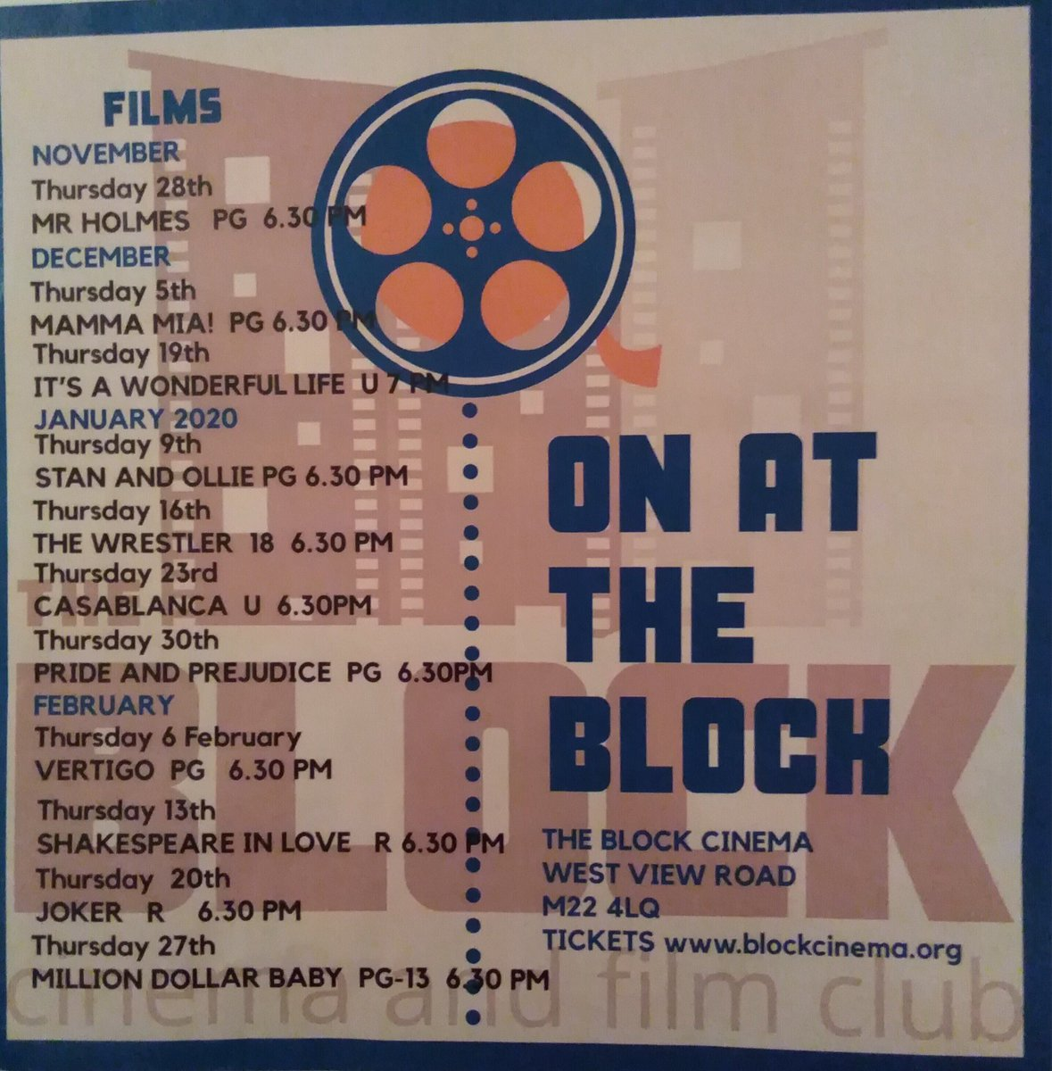 We are really missing our weekly film at @BlockCinema in Northenden. So it's nice to receive the weekly quiz until The Block reopens. Thanks for the challenge! @ADBL100 @wythenshawe_chg @MCCWythenshawe