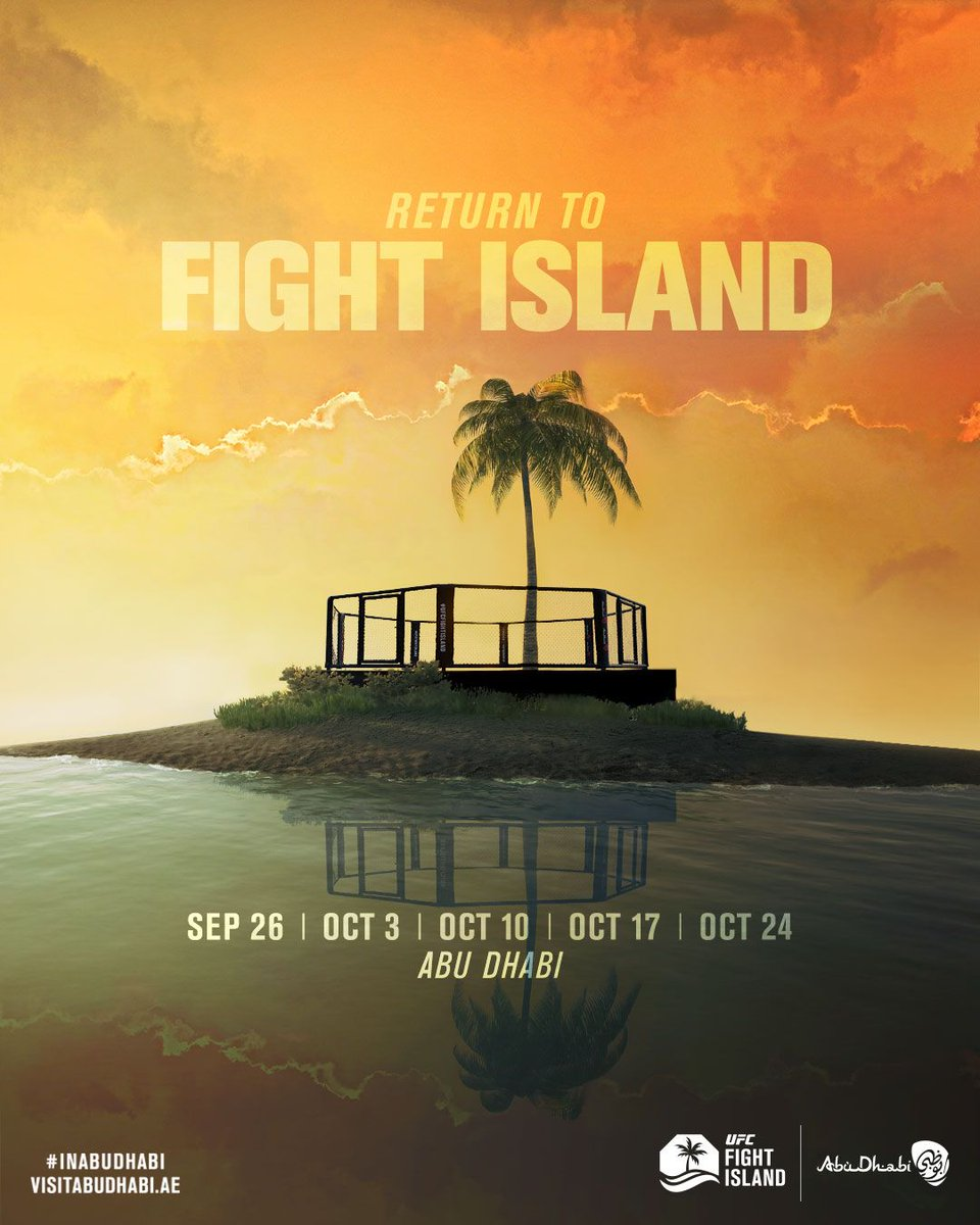 It's baaaaack! And for 5 weeks straight! Oh the #gambling and the #beer . How great it will be. #UFC #UFCFightIsland #MMA #martialarts #Fights #AbuDhabi https://t.co/VSDh3JzbSh