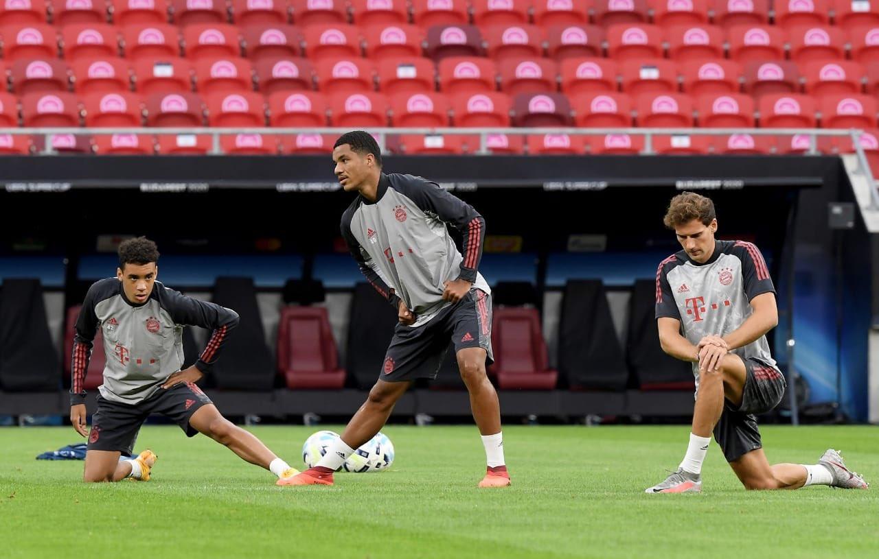 Jamal Musiala training in Bayern