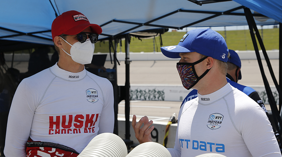 Teammates @FRosenqvist and @Ericsson_Marcus are pushing for a strong finish to the 2020 season.   Read: https://t.co/BH2SYUS8jv  #INDYCAR // @CGRindycar https://t.co/nLrn0LiIAa