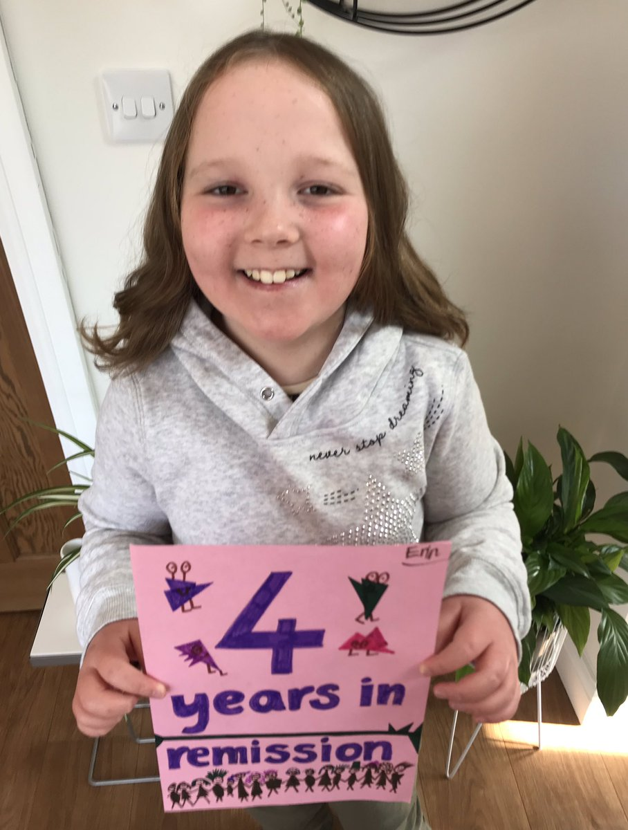 """""""Our daughter is celebrating 4 years of being clear of leukemia! Thanks to all the doctors, nurses, health care assistants, physiotherapists, nutritionists, therapists, play staff and the many more who helped her get this far."""" – Sarah, Erin's mom  #ChildhoodCancerAwareness https://t.co/fKiEiHqOH0"""