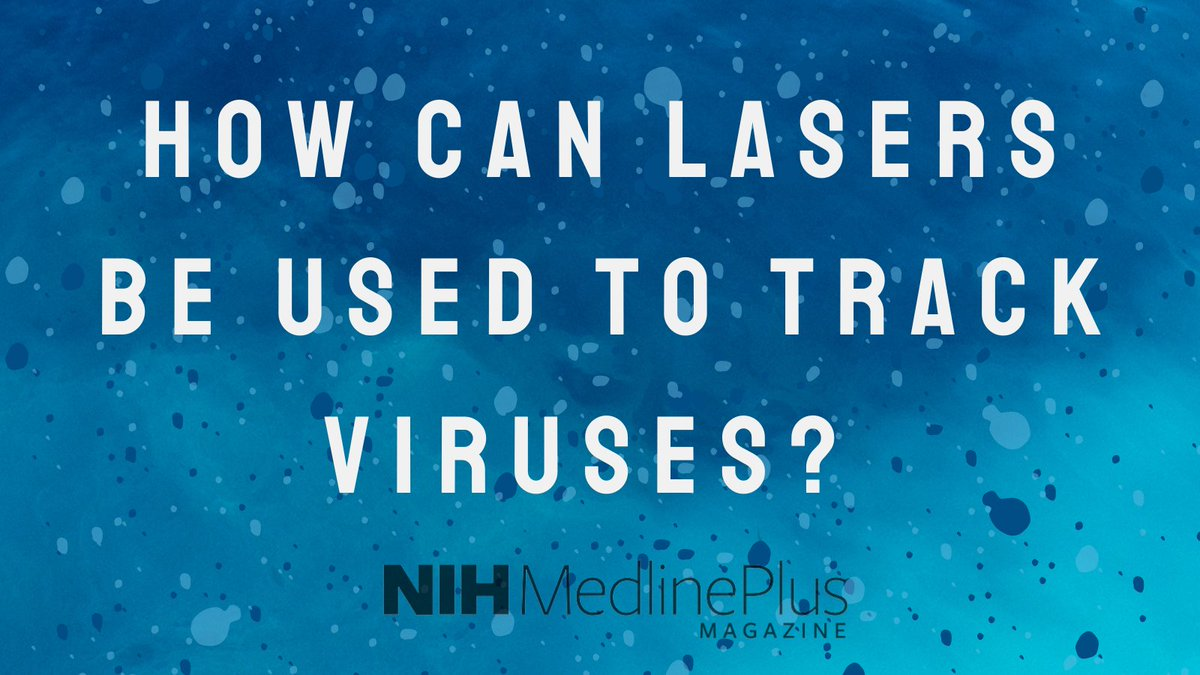 #Lasers are helping scientists @NIDDKgov track #viruses. How does it work? Click to find out: https://t.co/CIBO1Iy96Z https://t.co/JGY4VCON41