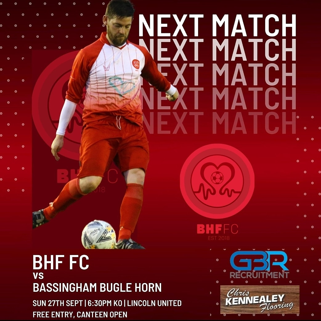 BHF FC vs @bassbuglefc  27th 6 30 pm @LincolnUnited ⚽️Gates open at 5 45 pm Free ENTRY Donations welcome   ⚽️NHS QR track and trace on arrival  ⚽️One way system around the ground   ⚽️Canteen open   All money raised for @TheBHF ❤   ❤❤ https://t.co/wF5ziCqd0x
