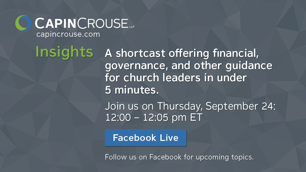 Knowing who your donors are and how they're giving is key to understanding how your #church is funded. Join us on Facebook Live at 12 p.m. ET tomorrow to learn which donor database analytics to monitor. https://t.co/cRpAYKXsWR  #churches #churchleaders #Insights #giving https://t.co/oBeWKjWBtP