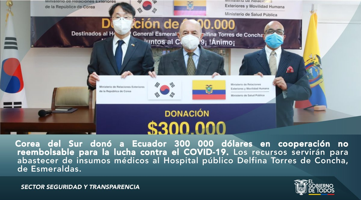 #SectorSeguridad | La @CancilleriaEc, continúa trabajando en la obtención de cooperación internacional para enfrentar la emergencia sanitaria en el país. #JuntosEcuador https://t.co/AQxA5AIo9d