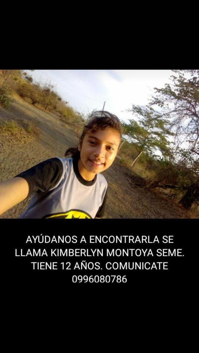 #URGENTE por favor si alguien sabe algo sobre #KimberlynMontoya de 12 años  desaparecida en #Guayaquil  llamar al  📞0996080786 @jimlama7 @albert_luisin @rafaga_deluz @JusticieroHabla  @americanvi @fmaritza @vekale75 @CCarminiani @ChorreaRatael https://t.co/8u4BHELdvn