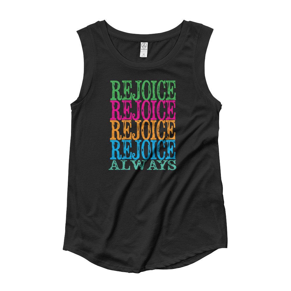 Ladies' Cap Sleeve T-Shirt, Tank Top, Rejoice tee, Inspirational T. Shirt https://t.co/sMcpVCVOxB #Etsy #truebluedesignco #WomensTee https://t.co/aElgUWHXQ7