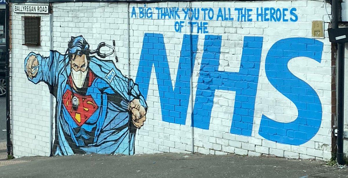 Spotted today in Dundonald, Belfast 🥰 #Belfast #nhs #NHSJobs #NHSheroes #ThankYou https://t.co/74seKo8Qd9