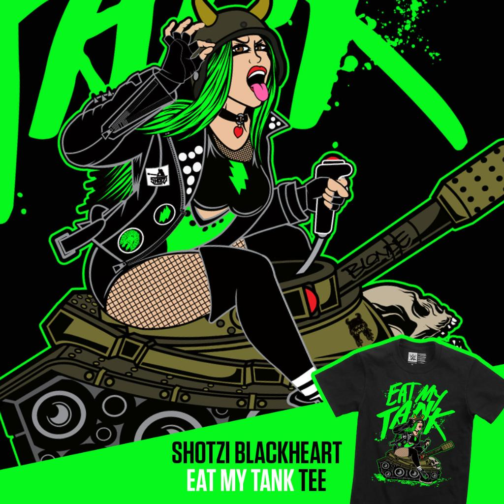 #EatMyTank Check out the all new @ShotziWWE Tee right now at #WWEShop! #WWE  https://t.co/INML5Rcc5J https://t.co/HkPxJleRSA
