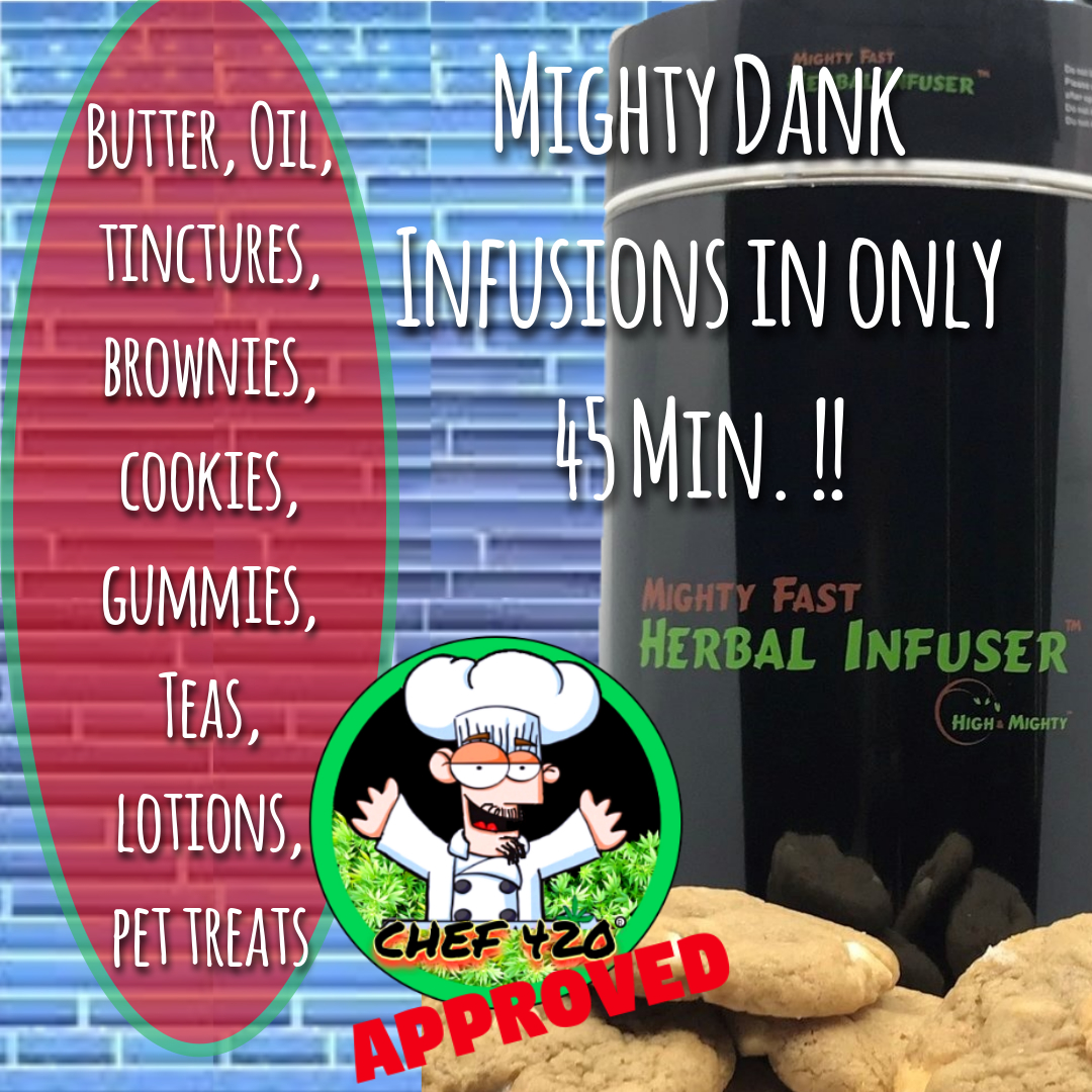 """""""It's not called MIGHTY FAST for nothing, Process took 45 minutes. No guess work,  just follow directions. Edibles were incredible""""-robin–USE Code """" chef420 """" for $30.00 OFF!!   https://t.co/wAJTtLxyq9   #Chef420 @herbalinfuser #Edibles #Medibles #Happy420 #420day #420blazeit https://t.co/BlLerpEXFs"""