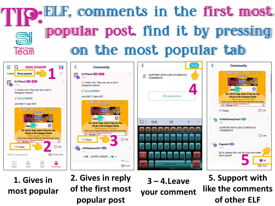 🚨Comment on the first pots most popular of the #SUPERJUNIOR Community🚨  Remember ✅1 comment per account ✅Supports the other comments of ELF giving like  ⚠️Just comment on a thread, don't spam ⚠️Don't comment with images  Let's win hearts together  30likes=20💙  @SJofficial https://t.co/2CoEYHvwxC