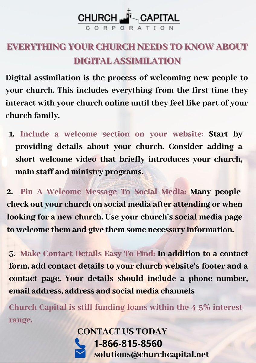 Everything Your Church Needs to Know About Digital Assimilation! #Churches #churchloans https://t.co/hJnHk1sv3u