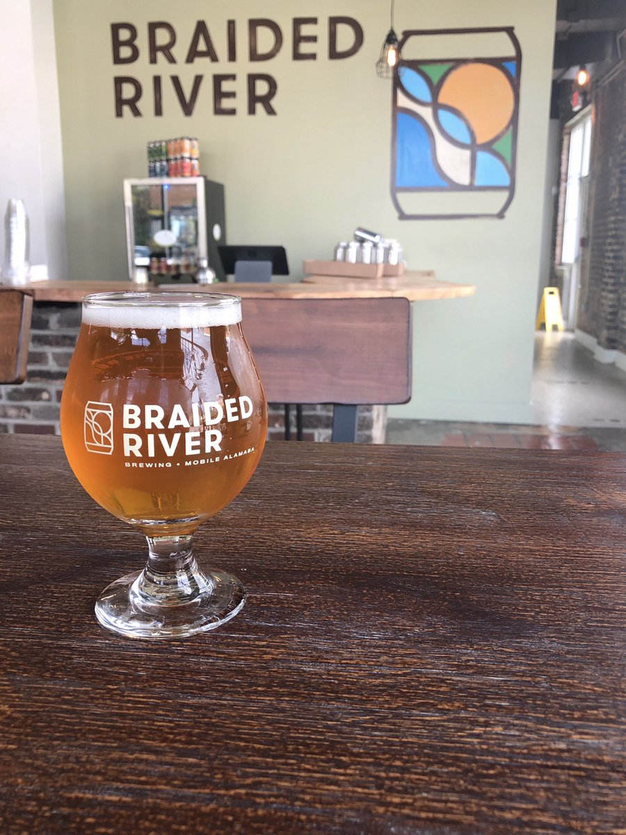 Braided River brewery is very good! Check it out! @VisitMobileAL https://t.co/Pz6LJDX1aC 🍺🔥 #beer #brewery #Alabama #bama #BeerDownHere #DrinkLocal #drink #MobileAlabama #AlabamaBeer https://t.co/k9opVNNwFP