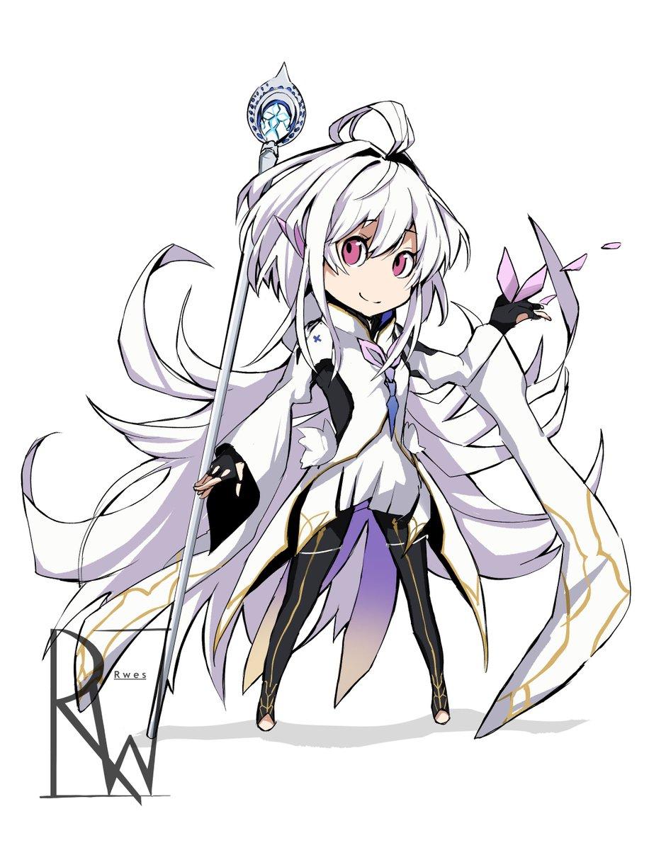 Proto Merlin in the PQ2 style   #fgo #protomerlin #fate #art #PQ2 #digitalart #cute #anime #animegirl #fatego #fategrandorder #ArtistOnTwitter https://t.co/trDSUwAipG