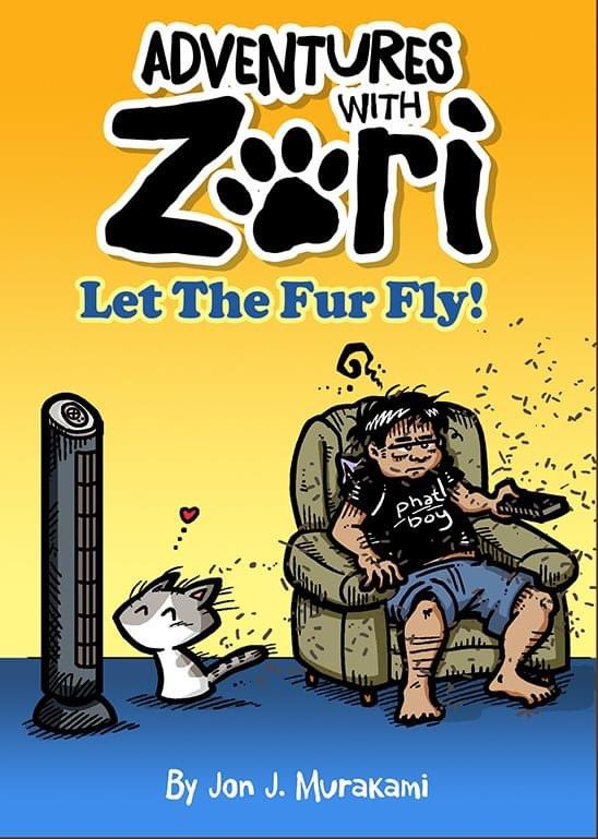 """*TAKING PREORDERS FOR THE UPCOMING ADVENTURES WITH ZORI BOOK UNTIL 10/19/20   •Adventures with Zori is a comic strip about a little cat, named Zori, & the mischief she gets into by Jon J. Murakami. Vol1 is a 60p color bk 5.5 x 7.75"""" with redrawn strips,  https://t.co/MdbLgfDxv4 https://t.co/ffj3jMIDYZ"""