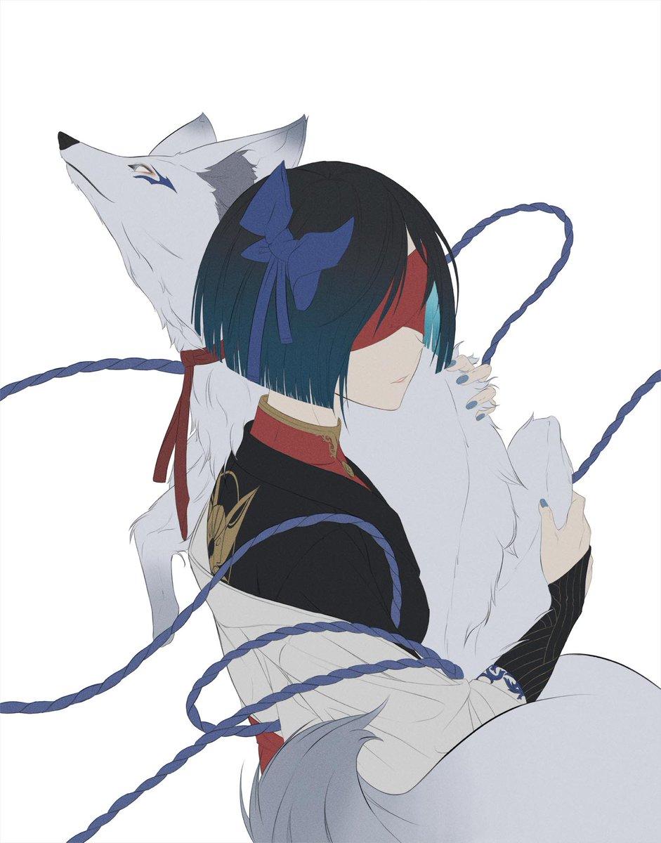 updated version  #digitalart #art #lineart #ink #colors #animestyle #manga #animegirl #fox #animal #pet #blindfold #ribbon #Japanesewomen #japanstyle #WIP #NobodyArtistClub https://t.co/6LKSkobkYC