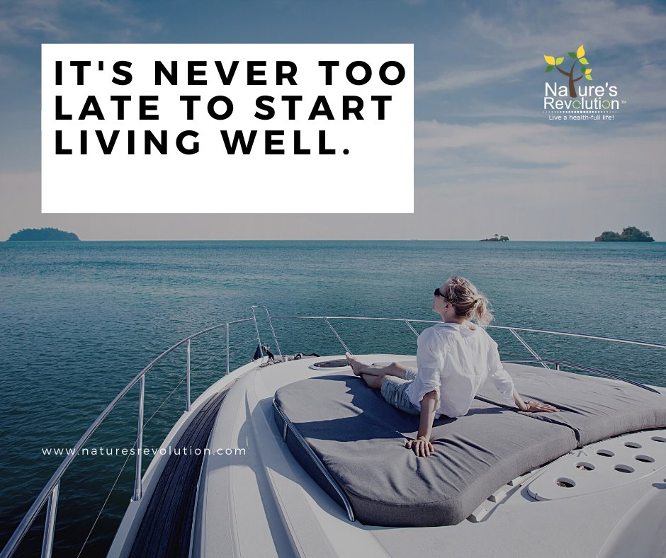 It's never too late to start living well. #health #wellness #nutrition #naturesrevolution⠀#weightloss #healthylifestyle #fitnessmotivation⠀#healthyfood #fitness #workout #diet https://t.co/is53bkhF68