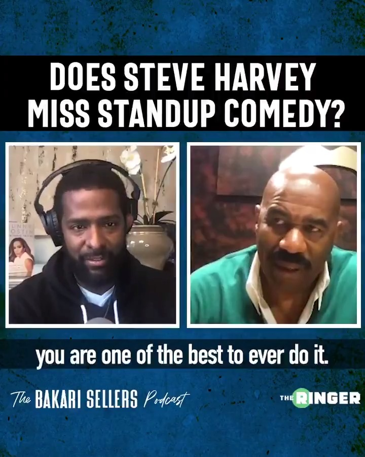 """""""I miss watching people hit each other laughing."""" —@IAmSteveHarvey on doing stand-up comedy"""