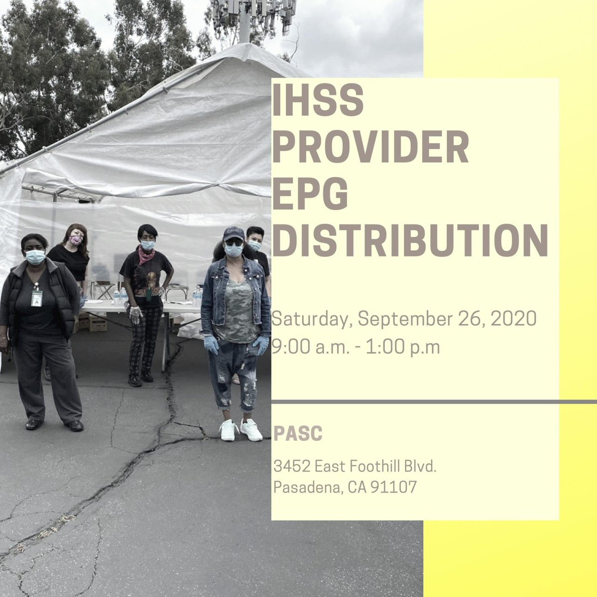 these distributions will be held. They are not the ones distributing EPG; they are simply hosting the events.  If you have questions, please call (877) 565-4477, press 2 and then 4.  #pasc #pascla #ihss #consumers #providers #losangeles #LACounty https://t.co/igZYlIR9Cc