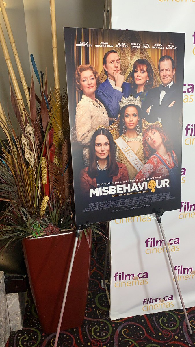 An awesome premiere and book signing happening here at https://t.co/9TNzgavfeD Cinemas 🎥🍿 #misbehaviour @theOFFA https://t.co/OzeDTpJzKw