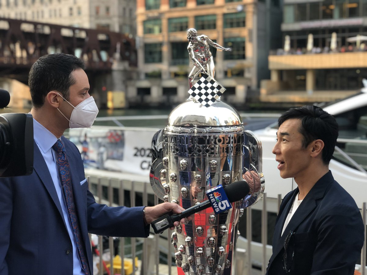It was great to see you again @MikeBermanNBC!  🏎 @TakumaSatoRacer  2x #Indy500 Champion  And Chicago's own @BobRahal and Mike Lanigan. https://t.co/ybWJjoBWEP
