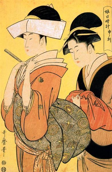 Utamaro Kitagawa - The Hour of the Ramin    #japan #japaneseart #utamaro #喜多川歌麿 #ukiyoe #浮世絵 #日本美術 https://t.co/GzVttk3Svf