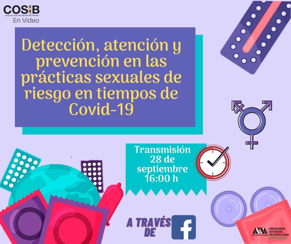 """#TomaNota y #agenda el próximo 28 de septiembre  porque la Mtra. Nora Rosales  abordará el tema: """" Detección, atención y prevención en las prácticas sexuales de riesgo en tiempos de COVID-19"""" en #COSIB #EnVideo ¡No te lo puedes perder! https://t.co/k1bt1CHoXb"""