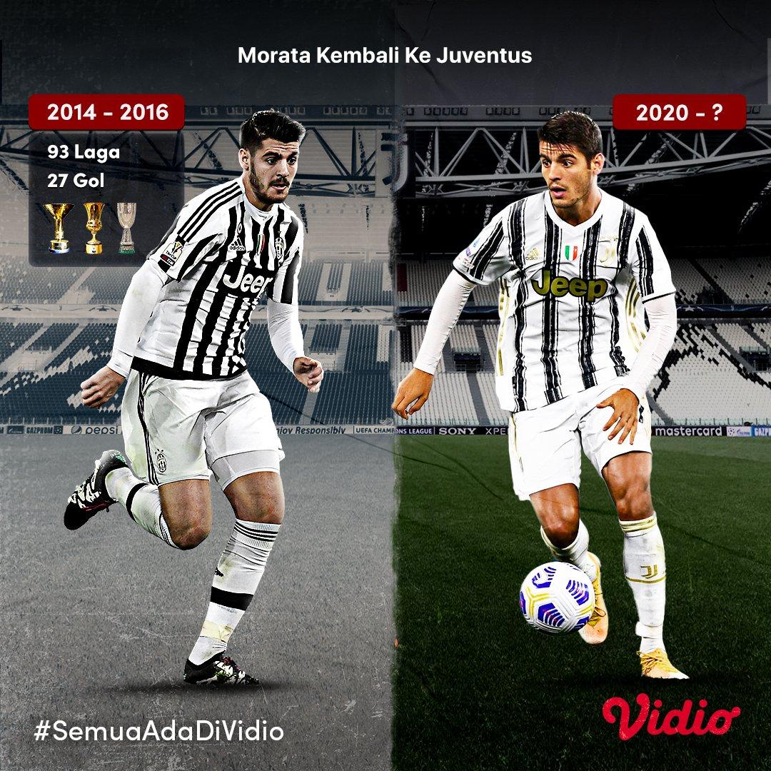 Berkontribusi meraih 2 trofi #SerieA, 2 trofi Coppa Italia dan Super Coppa Italia. Musim pertama yang positif bersama #Juventus. 👏  Musim ini Morata akan kembali ke Allianz Stadium, dan bereuni dengan Pirlo dan Dybala, kira-kira bakal gacor gak nih guys?  #SemuaAdaDiVidio https://t.co/i9z2mpyxUA